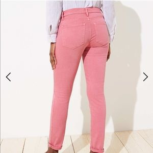 Loft high rise skinny jeans peach /pink / coral